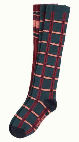 calzini ginocchio check scacchi verde vinaccia rosa peccati veniali
