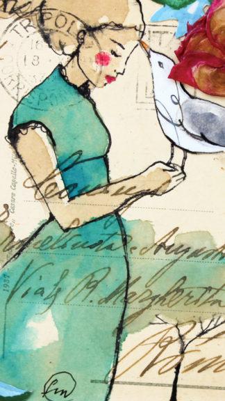 illustrazione gabbiano 21x21cm francesca mariani peccati veniali