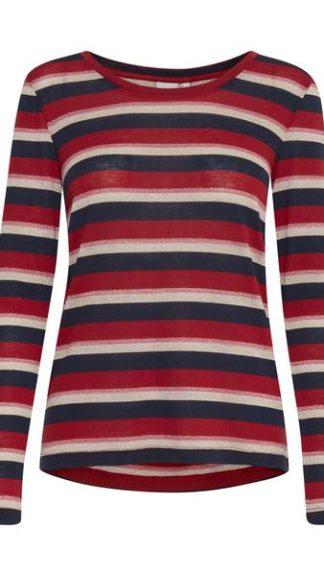 blusa a righe blu rosso panna rosa wilma peccati veniali