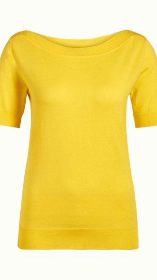 maglia a maniche corte gialla audrey peccati veniali