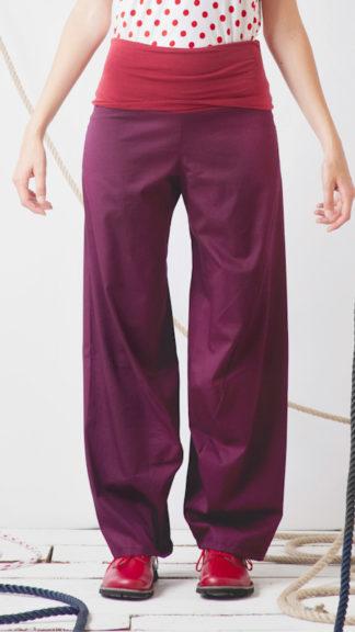 pantalone vino con fascia elastica rossa mangrovia peccati veniali