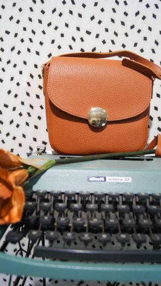 borsa arrotondata stile vintage arancio peccati veniali