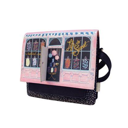 borsa negozio di caramelle con porta apribile peccati veniali