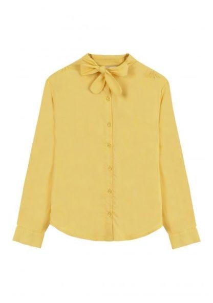 camicia gialla con fiocco frontale peccati veniali