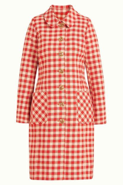cappotto quadretti rosso e panna nathalie peccati veniali