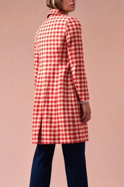 cappotto quadretti rosso e panna nathalie schiena peccati veniali