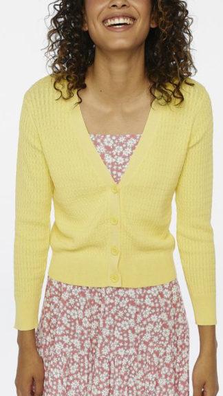 cardigan maglia ad otto giallo peccati veniali