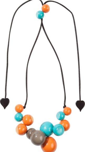 collana bolas arancio e azzurro peccati veniali
