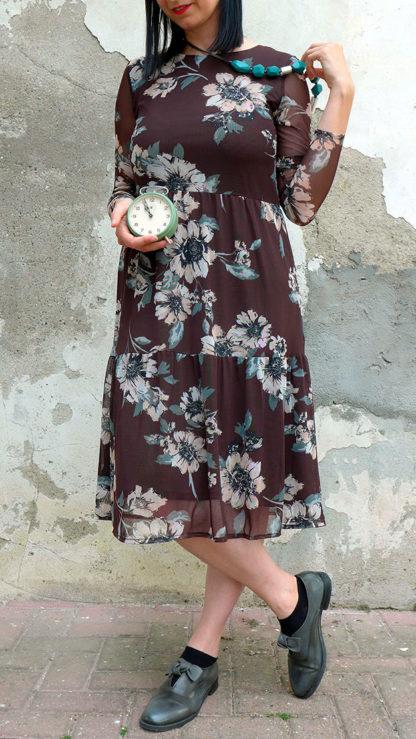 abito cioccolato fiori silvi indossato peccati veniali