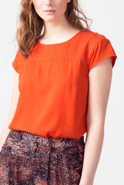 blusa in lyocell arancio amai peccati veniali