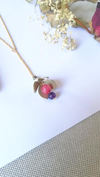 collana campanula viola rosa ottone particolare peccati veniali