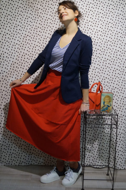 outfit red egg skirt peccati veniali