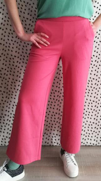 pantalone a gamba dritta rosa wide peccati veniali