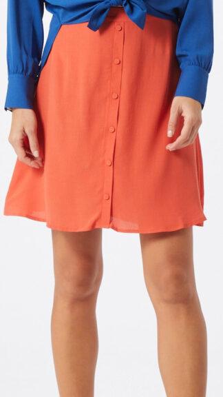 gonna bottoncini foderati arancio indossata peccati veniali