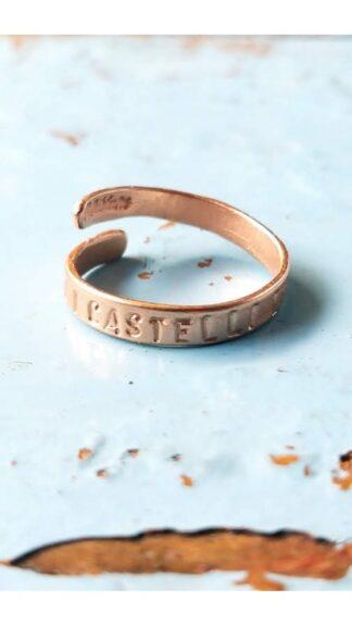 anello castelli dentro galvanica oro rosa peccati veniali
