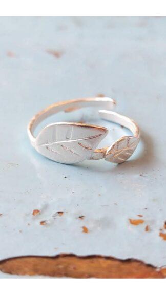 anello foglie galvanica argento peccati veniali