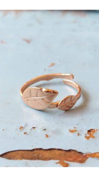 anello foglie galvanica oro rosa peccati veniali