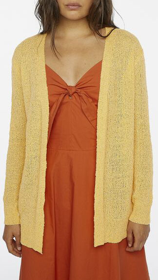 cardigan maglia traforata giallo peccati veniali