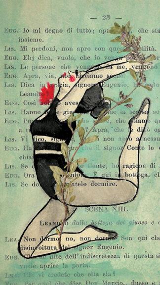 illustrazione di acrobazie e fiori selvatici francesca mariani peccati veniali