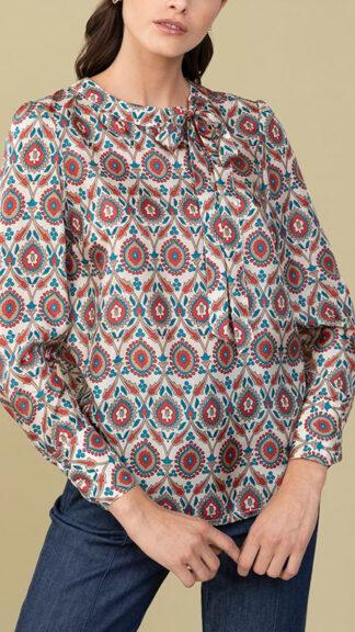 blusa in seta con fiocco cyrano peccati veniali