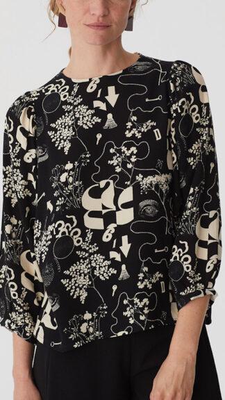 blusa nera maniche a sbuffo melting pot peccati veniali