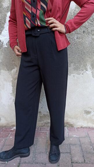 pantalone vita alta nero jinny indossato laterale peccati veniali