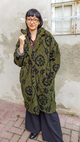 cappotto teddy verde fiori neri peccati veniali