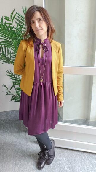 outfit viola e senape peccati veniali
