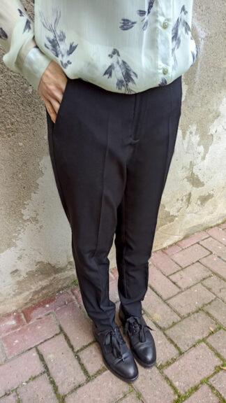 pantalone nero a sigaretta peccati veniali