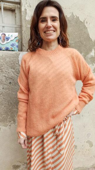 pull mohair arancio peccati veniali